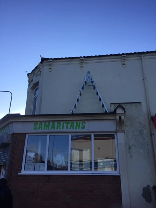Our job today st the Samaritans on Alexandra road Grims...