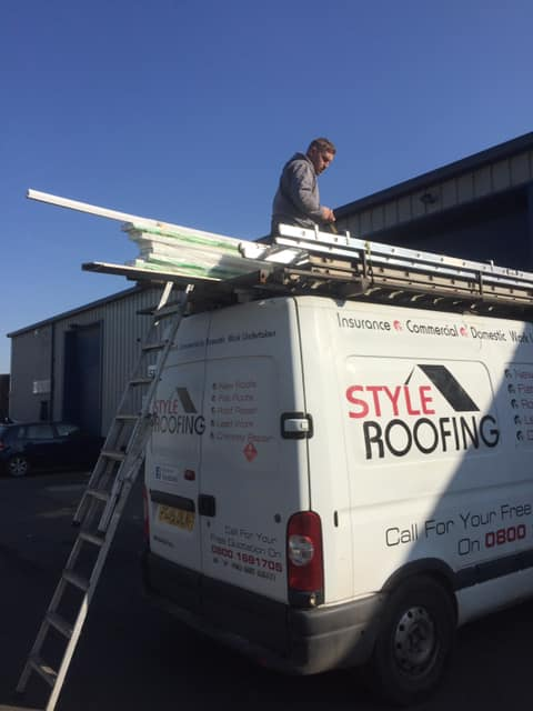 Loading up with full wood removal upvc Fascias soffits ...