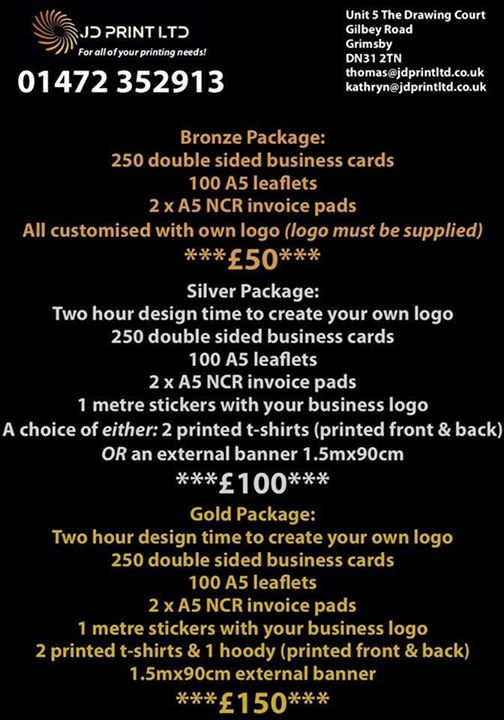 Here are our *NEW* packages that we are offering out to...