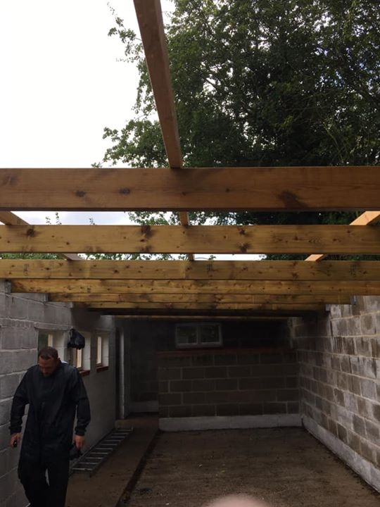 Our job this week All new timber joists installed and u...